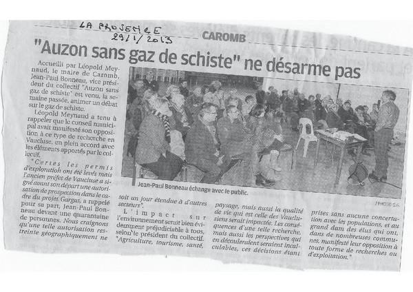 2013-01-29-La Provence-Réunion publique Caromb