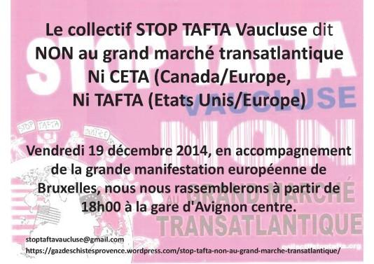 Rassemblement du 19 décembre 2014 à Avignon centre