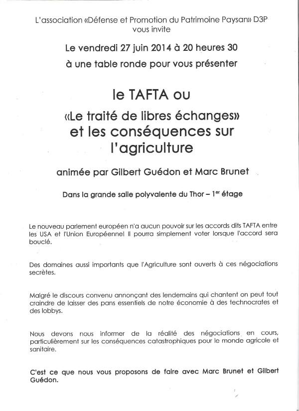 2014-06-27 - conférence TAFTA-Le Thor