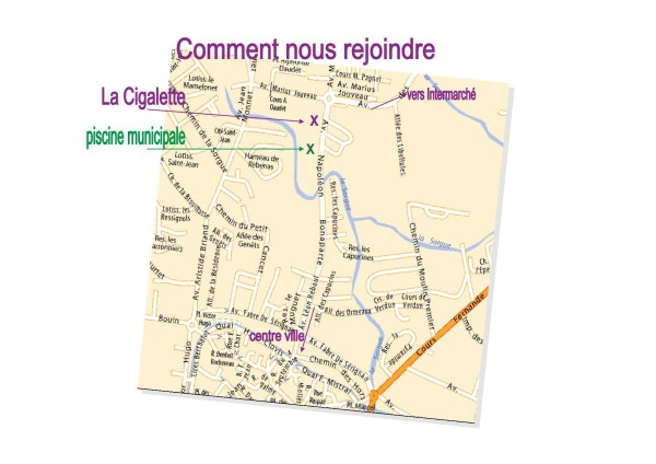 plan d'accès cigalette